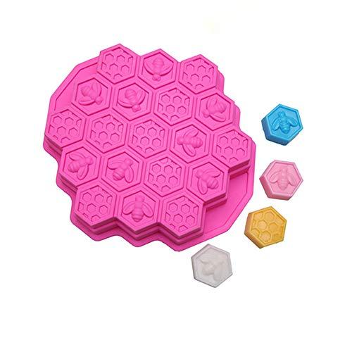 Kuchenform 3D Silikon Wabenform Backwerkzeug Pink 24 x 23 cm 23 Chocolate Mold