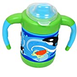 Gurukripa Baby Cute Stylish Bpa Free Unbreakable Sippy Cup (Sipper Kids Mug )Hard Spout Infant PP Water/Juice Training Gravity Sipper Cup With Handles & Dust Free With Handel (GREEN)