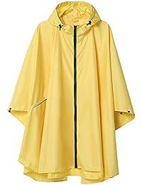 Summer Mae Chubasqueros Mujer Impermeable Reutilizable Poncho Impermeables Chaquetas Capa Lluvia Nieve para Mujer Amarillo