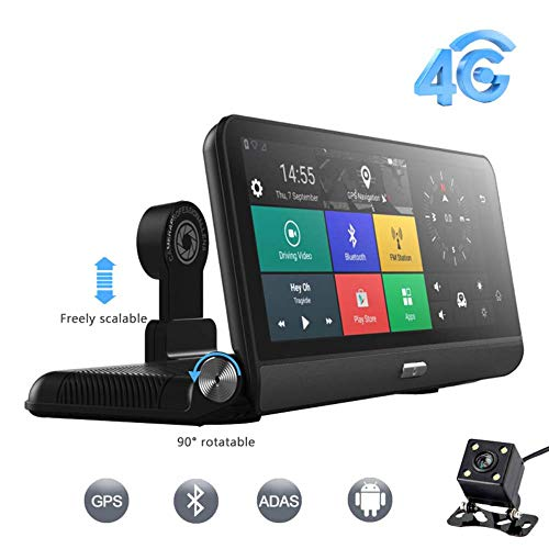 Four dash cam, ips touch screen 1080p doppia lente, impermeabile retromarcia fotocamera loop registrazione telecamera retromarcia grandangolare con parcheggio monitor motion detection