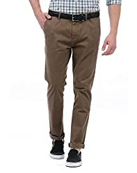 Pepe Jeans Mens Slim Fit Casual Trousers (PIMW100201_Khaki_32W x 30L)
