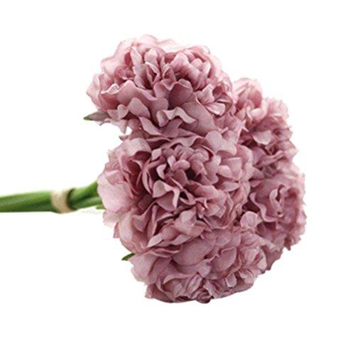 LSAltd Elegante künstliche Seide Blumen Pfingstrose Blumen Hochzeit Bouquet Braut Hydrangea Home Decor (E) - Blume Home Decor