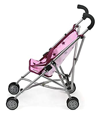 Bayer Chic 2000 601 78 Mini Roma, Puppen-Buggy, Stars Brombeere, rosa