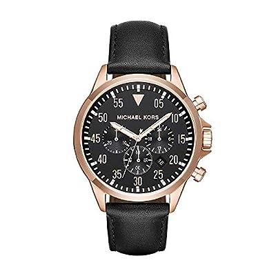 Michael Kors Reloj Cronógrafo para Hombre de Cuarzo con Correa en Cuero MK8535