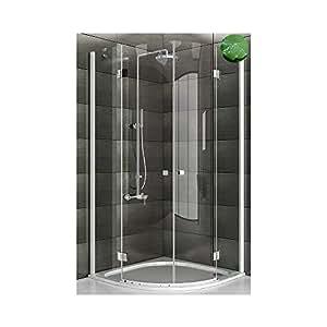 viertelkreis duschkabine 90x90x195 mit lotuseffekt. Black Bedroom Furniture Sets. Home Design Ideas