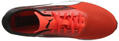 Puma Speed 100RIGNF6 - Scarpe Sportive Indoor Unisex Rosso (Red blast-Black-White 01)