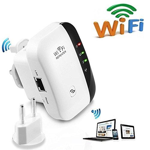 Seaidea WiFi Repeater 300 Mbit/s Wireless Range Extender Kabelloser Verstärker Wlan Signal Verstärker Wireless-N Mini AP Access Point 2.4GHz Mit WPS Funktion Willigt IEEE802.11b/g/n
