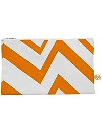 "Kess interno de 12,5x 21,6cm NL diseños ""Zigzag naranja"" todo bolsa–Naranja/Blanco"