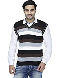 """ZAKOD Sleeveless Slim Fit Multicolor Sweater for Men,Purely Wool Sweater,Formal Use Sweater, M=38"""",L=40"""",XL=42"""""""