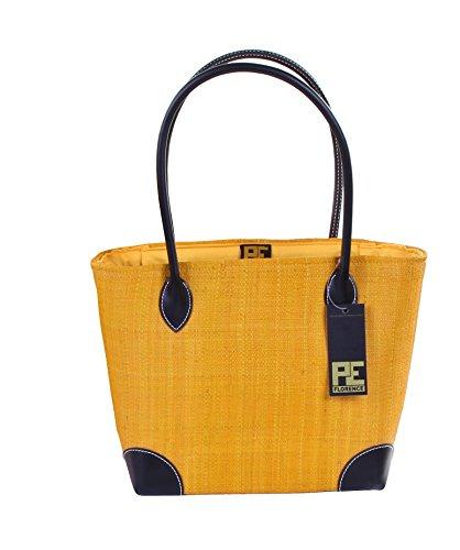 CH Trading Tasche Umhängetasche Korbtasche RAFFIA Saffron in Gr. M