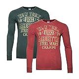 Tommy Hilfigerr Denim Herren Longsleeve T Shirt Rundhals Bedruckt Vorder- und Rückseite rot grün (S, grün)