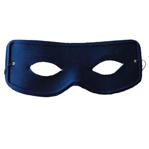 maske Zorro mit Gummiband, schwarz (Original Zorro Kostüm)