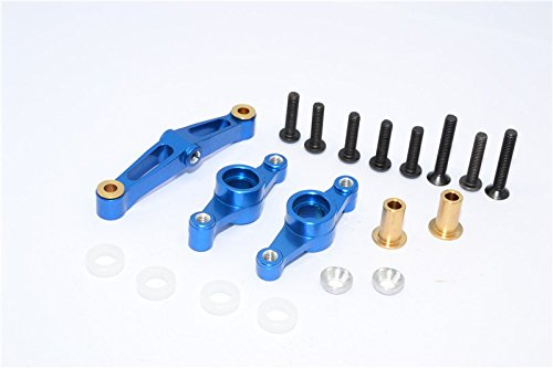 Tamiya TT-02 Tuning Teile Aluminium Steering Assembly - 1 Set Blue