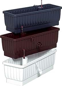 RS 40202/04 Balkonkast.Venezia 80 weiß mit integriertem Wasserspeicher