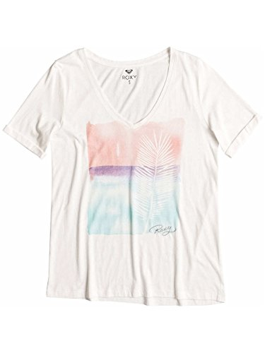 Roxy V Neck - T-shirt femme ERJZT03246 Blanc - Sea Spray