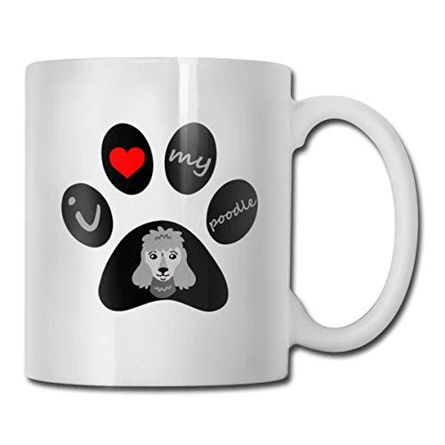 Daawqee Becher Coffee Mug 11oz Funny Cup Milk Juice Or Tea Cup Dog Paw Birthday -