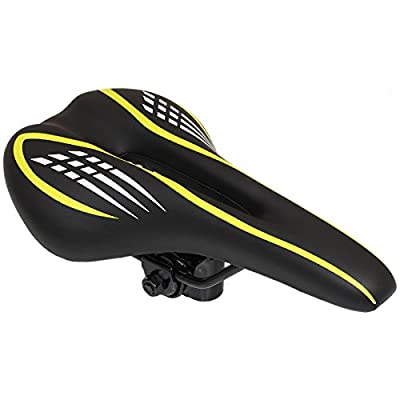 PedalPro Mountain Bike Saddle - Black/Yellow by PedalPro