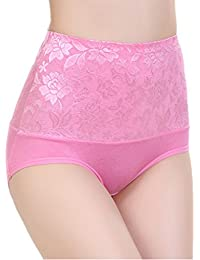 Aolevia 5-er Pack Damen Mädchen Elegant High Waisted Slip Unterhosen Unterwäsche Baumwoll-Slip Panty