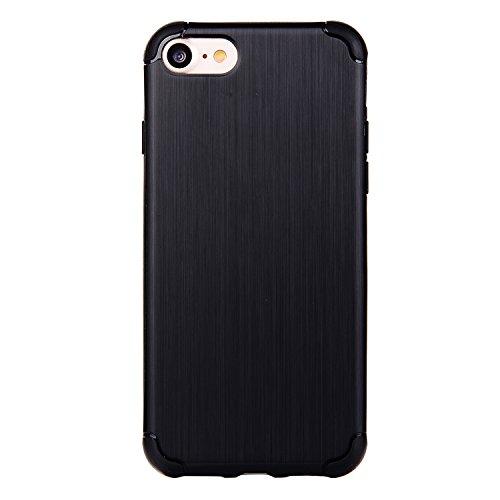 """Cover pour Apple iPhone 7 4.7"""", CLTPY Creative Mignon Naturel Case Ultra Léger Mince Téléphone Mobile Accessories Pratique Hull de Protection Anti Rayures Cas pour iPhone 7 + 1x Stylet - Raie Jaune Noir"""
