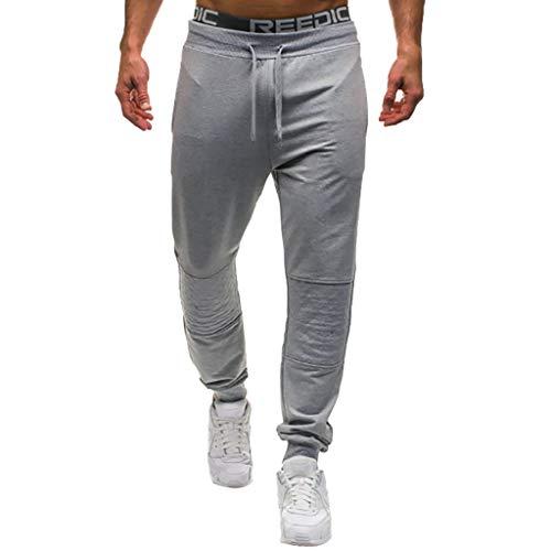 SHE.White Herren Jogginghose Sporthose Fitness Sport Slim Fit Hose Casual Hose Kind Jazz-pant