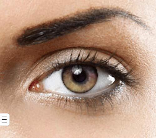Farbige Kontaktlinsen natürliche (PURE HAZEL) ohne Stärke,1 paar, (2 Stücke) Jahreslinsen + gratis Kontaktlinsenbehälter - von HOLLYWOOD LUXURY LENSES