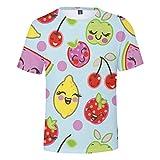 ODRD Hot Jugend Herren T-Shirt Frühling Sommer Mode Obst Zitrone Unisex 3D-Druck kreative Rundhals Casual kurzes Hemd Top Lässiges Weste Vest T-Shirts Top Tanktop Bluse Tee t Shirts