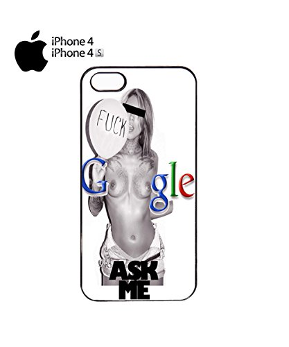 F*ck Google Ask Me Sexy Girl Women Mobile Phone Case Cover iPhone 6 Plus + Black Noir