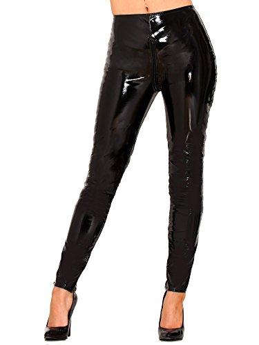 Honour PVC Reißverschluss Jeans.- Schwarz- UK 14 | US 10 | EU 42 ()