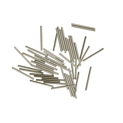 D DOLITY 50 teilig Röhren Spacer Metallperlen Röhrchen Tube Perlen Zwischenperlen für Armband Halskette - Silber