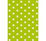 Klebefolie - Möbelfolie Stars - Sterne grün - 45 cm x 200 cm moderne Selbstklebefolie Folie Dekorfolie mit Motiv
