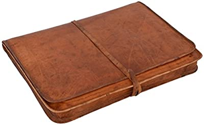 "Gusti Cuir nature - Housse ordinateur portable Clay Pochette Notebook 17"" Porte-documents vintage unisexe en cuir de chèvre Marron L10b"