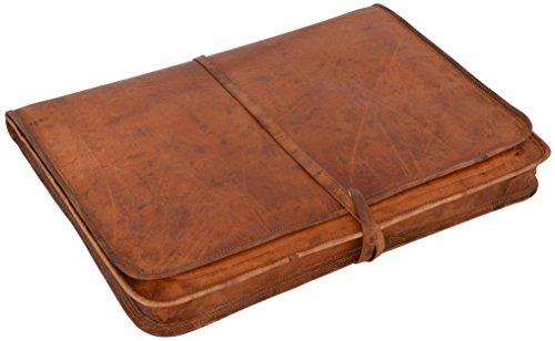 """Laptoptasche Gusti Leder """"Clay"""" Notebook-Tasche Aktentasche Ledertasche Büro Unitasche Collegetasche Vintage Notebook-Hülle Damen Herren Braun L10b"""