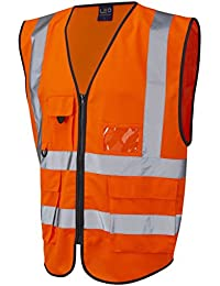 Hiviz Sûreté Visibilité Exécutif Un Gilet Gilet Vêtements De Travail Jaune