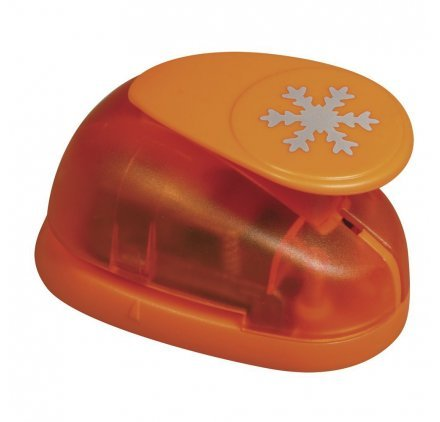 Rayher Hobby 69009000 Motivstanzer Schneeflocke, ø 3,81 cm- 1,5 Zoll, geeignet für Papier/Karton bis zu 200g/m² -