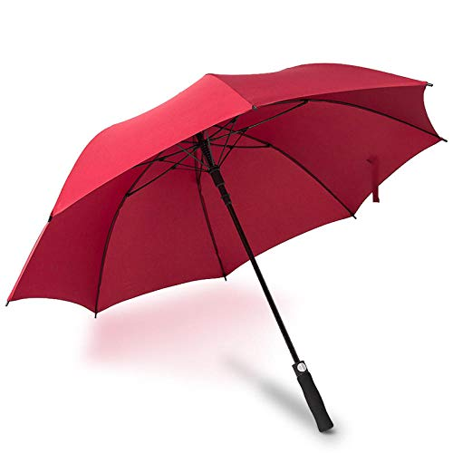 Sunny Umbrella Damen Automatikfaser Firm Golf Doppelschirm Klassischer Windschutzschirm@Jujube_Übergroßer Regenschirm