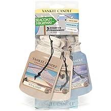 yankee candle quot;Afternoon Picnic&quot, deodorante per auto, multicolore, confezione da 3, plastica, Multi, 7.8 x 0.2 x 19.7 cm