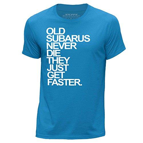 stuff4-uomo-piccolo-s-blu-girocollo-t-shirt-old-subarus-subaru-never-die