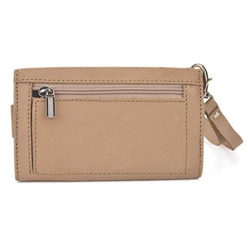 Kroo Pochette en cuir véritable pour téléphone portable pour Allview x1Xtreme Marron - peau Marron - marron