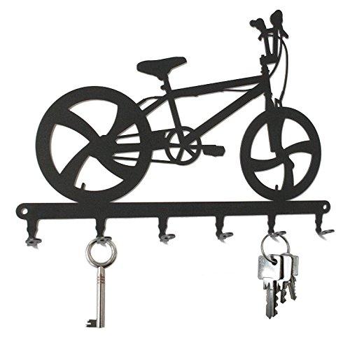 Crochets porte-clés * Vélo BMX * - 6 crochets - Tableau des clés - acier - noir