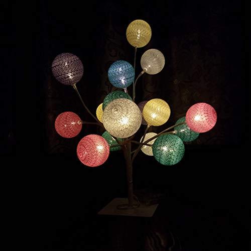 ampe neue Garn Ball Baum Lampe Akku Lampe Laterne Startseite Hot Tischleuchte, warmweiß ()