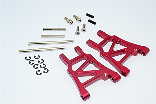 HPI Sprint 2 Tuning Teile Aluminium Rear Arm With Screws & Pins & E-Clips - 1Pr Set Red - Eclip-pin