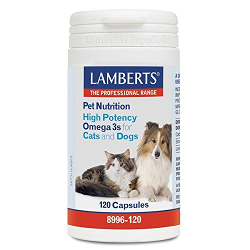 Lamberts - Pet nutrition (high potency omega 3s for cats and dogs) - 120 caps -