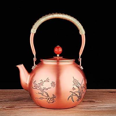 Bouilloire En Cuivre Théière Théièresle Teapot Théière En Cuivre Faite Main Prune En Cuivre Pot Bouilli Thé Bouilli Ensemble De Thé Kungfu Non Enrobé