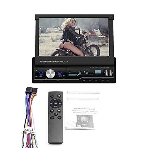 feiledi Trade Doppel-Din-Autoradio, 7,1-Zoll-Touchscreen-Autoradio MP3 / MP5 / FM-Player unterstützt Bluetooth/USB/SD, GPS-Sat-NAV-Bluetooth-Stereo-einziehbare Funkkamera
