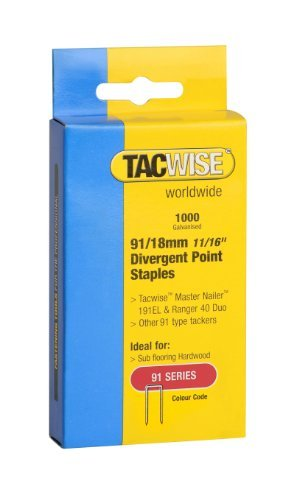 Tacwise 91/18MM DIVERGENT POINT STAPLES (1000) by Tacwise