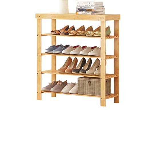 FLYSXP Moderner einfacher Schuhschrank wirtschaftlicher Haushaltsaufhänger Schlafsaal vierstöckiges Schuhregal Foyer Veranda Schuhregal 60x28x80cm Schuhregal