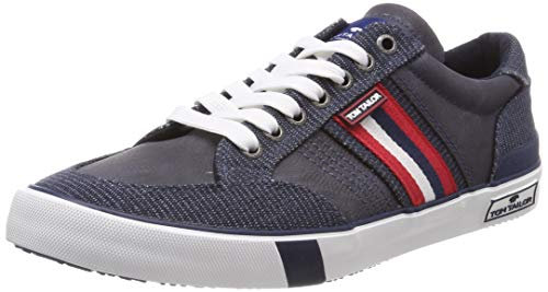 TOM TAILOR Herren 6980903 Sneaker, Blau (Navy 00003), 43 EU - Blau-herren Toms