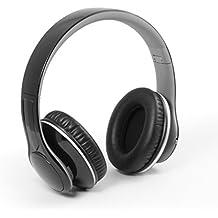 Technaxx MusicMan BT-X15 - Auriculares inalámbricos (Bluetooth 3.0, reproductor de MP3 incorporado, radio FM, admite tarjeta MicroSD) negro