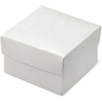 10 Stück Kartonage Würfel Seta weiß, 10 x 10 x 10 cm