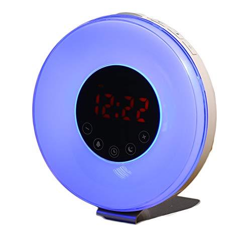 ht Wecker, Natural Wake Up Simulation Sonnenaufgang Sonnenuntergang Bunte Farbe Wecker Dimmen LED Nachtlicht Schlafzimmer Nacht ()